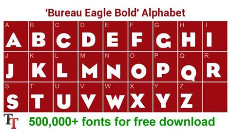 fond bureau bureau eagle bold font for logo create custom logo with