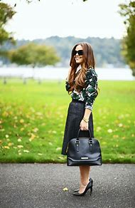 Green Leather Skirt Outfit