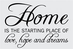 Home Quotes & Sayings Wall Decals & Stickers, Home Love