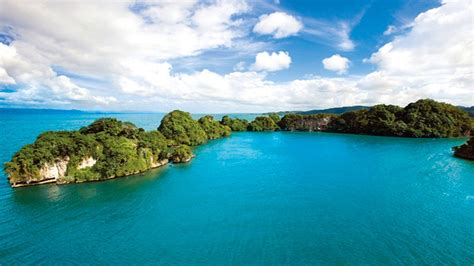 green water blue clouds landscapes nature white hills