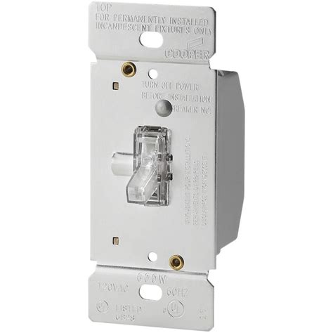 pipe l dimmer switch eaton 600 watt 120 volt single pole 3 way lighted