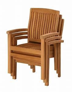 Chaise De Jardin En Bois : fauteuil empilable en teck huil 60x62x93cm ~ Teatrodelosmanantiales.com Idées de Décoration