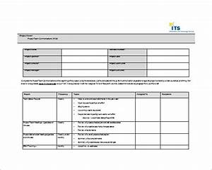8 project communication plan templates free sample With creating a project plan template