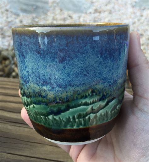amaco pottery amaco blue rutile green and textured brown by