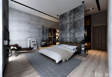 chambre interiors exposed concrete wall bedroom interior design ideas