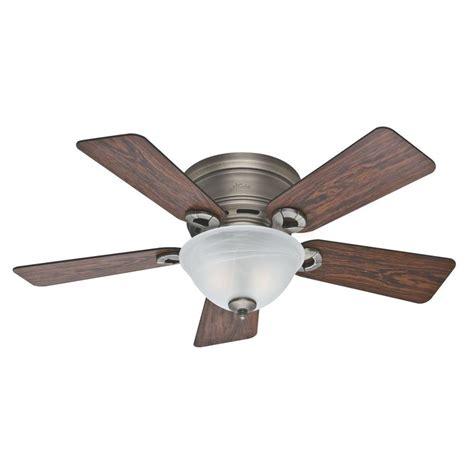 vintage hunter ceiling fans shop hunter 42 in antique pewter indoor flush mount