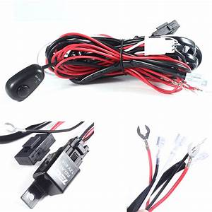 New Wiring Loom Harness Kit Car Fog Lights Bar With Fuse U0026relay Switch