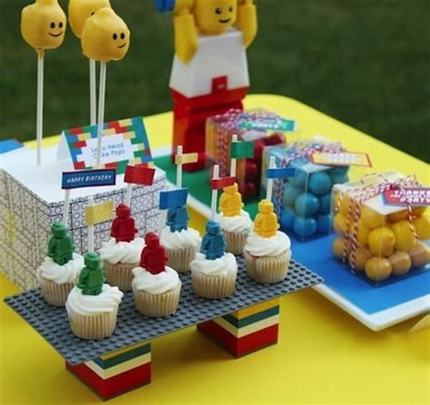 top  easy lego cupcakes  birthday cake ideas