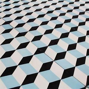 Carreau Ciment Blue Small Cube Carrelage Ciment Motifs