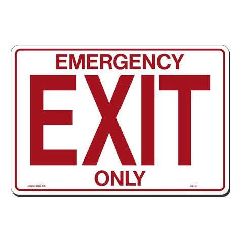 Lynch Sign 14 In X 10 In Emergency Exit Only Sign
