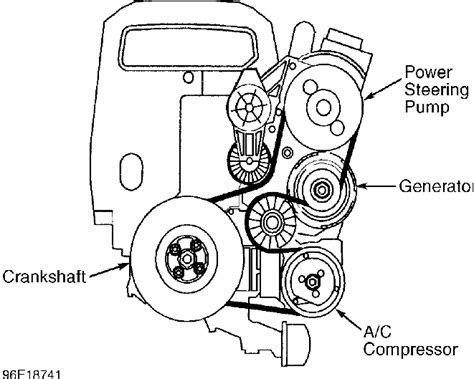 volvo  drive belt routing service manual