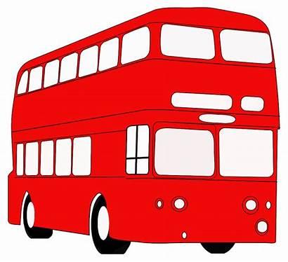 Bus London Clipart Decker Double Clip Onlinelabels