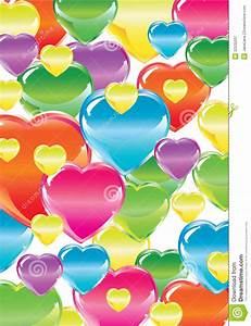Valentine's Background With Colorful Hearts Royalty Free ...