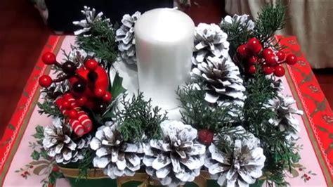 diy il centrotavola natalizio  tutorial youtube