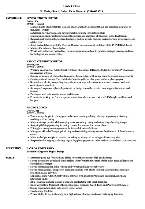 Edit Resume by Photo Editor Resume Sles Velvet