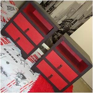 Table De Chevet Rouge : tables de chevet lpb carton ~ Preciouscoupons.com Idées de Décoration