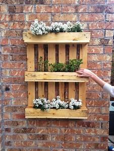 Mur Végétal En Palette : 1001 tutoriels et id es pour fabriquer une jardini re en palette ~ Melissatoandfro.com Idées de Décoration