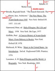 MLA Works Cited Page Example