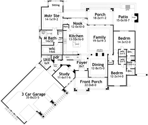 craftsman house plan  bedrooms  bath  sq ft plan