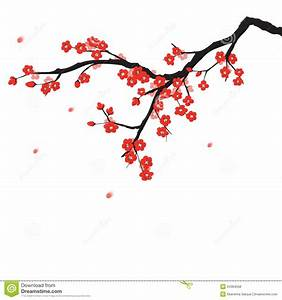 Cherry Blossom clipart plum flower - Pencil and in color ...