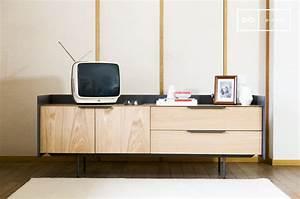 Meuble Scandinave Vintage : meuble tv scandinave jackson bois clair et pib ~ Teatrodelosmanantiales.com Idées de Décoration