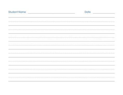 name writing template blank and general office