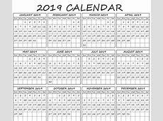 Printable Calendar 2019 With Holidays
