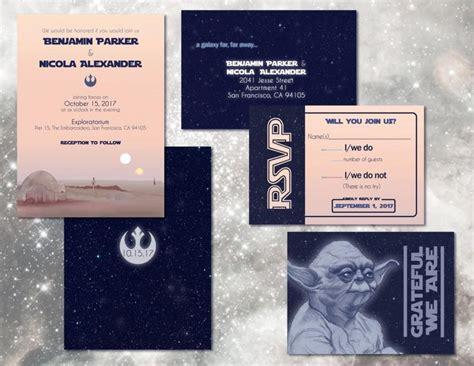 wars wedding invitations wars wedding invitation set custom digital
