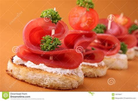 m and s canapes appetizer canapes stock image image of blini canape