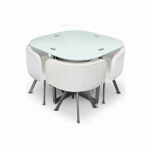 table manger verre 4 chaises blanches corner achat vente table manger compl  te table 054819287588
