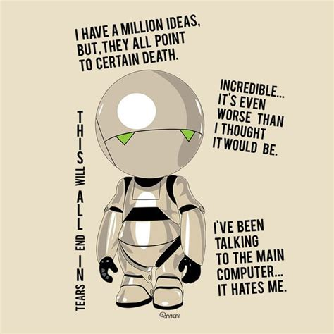 marvin the paranoid android quotes hitchhiker s guide to the galaxy marvin quotes