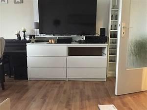 Two IKEA Malm chests as a TV highboard - IKEA Hackers