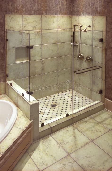 beautiful shower stock photo image  wall shower tile