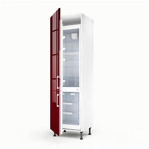 Meuble Cuisine Leroy Merlin : meuble de cuisine colonne rouge 2 portes griotte x l ~ Melissatoandfro.com Idées de Décoration
