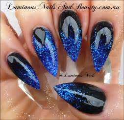 Blue nails cute nail designs for prom inspiring art amp