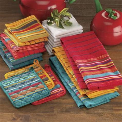 kitchen towel sets 20 salsa kitchen towel set from seventh avenue