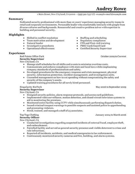 resume for security officer with no experience resume ideas
