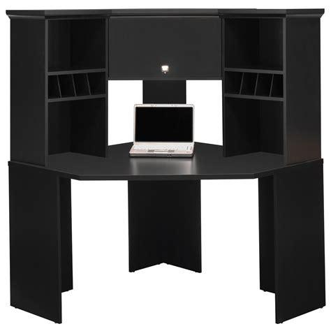corner computer desk cabinet bush stockport corner desk with hutch desks at hayneedle