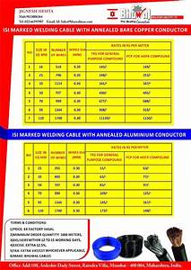 Welding Cable Price List