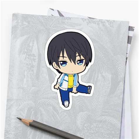 haruka nanase chibi sticker by chibify redbubble