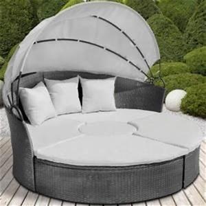 Canape de jardin rond modulable gris en resine tressee for Canape en resine exterieur 0 lit rond dexterieur en resine tressee 1 canape 2