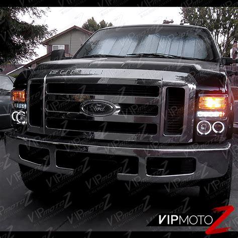 2008 2010 ford f250 f350 f450 sd black halo led projector headlight headl l r ebay