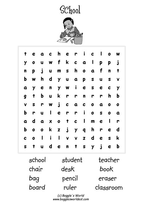 esl wordsearches