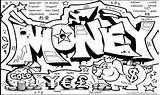 Coloring Money Pages Graffiti Printable Bill Dollar 100 Characters Sheets Getdrawings Getcolorings Print Colorings Stunning Graff sketch template