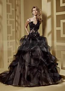 aliexpresscom buy sexy black gothic wedding dresses With sexy black wedding dress