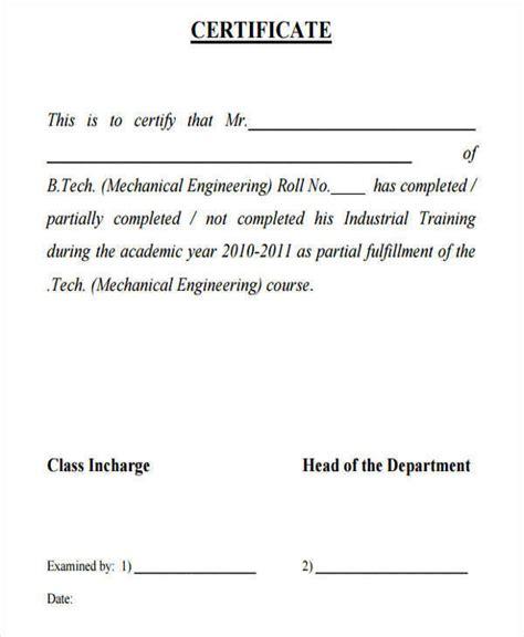 certificate sample  industrial training dussehracom