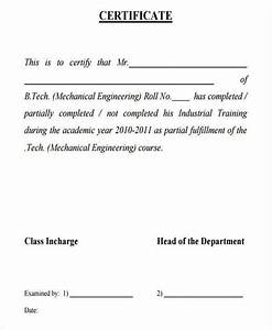 Free Training Completion Certificate Templates Free 19 Training Certificates In Pdf Ms Word