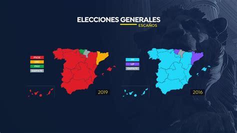 asi ha cambiado el mapa de espana de azul  rojo tras las
