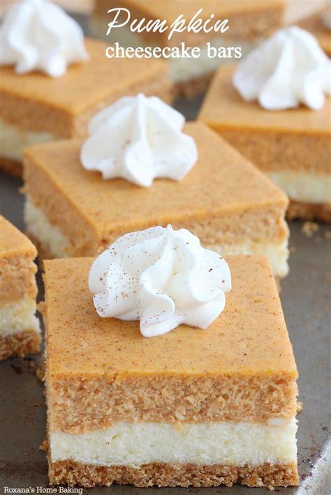 Gingersnap Pumpkin Cheesecake by Pumpkin Cheesecake Squares Recipe Dishmaps