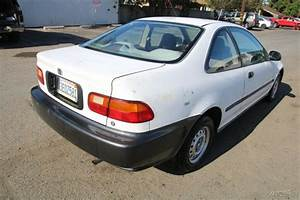 1993 Honda Civic Dx Coupe 5 Speed Manual 4 Cylinder No